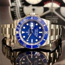 Rolex Submariner Date подержанные 40mm Синий Дата белое золото