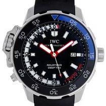 IWC Aquatimer Deep Two nuevo Automático Reloj con estuche y documentos originales IW354702