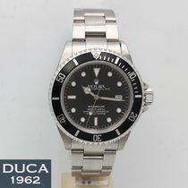 Rolex Sea-Dweller 4000 Staal 40mm Zwart Geen cijfers