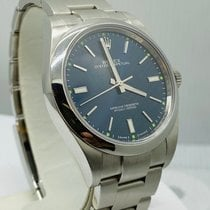 Rolex Oyster Perpetual 39 Staal 39mm Blauw Geen cijfers Nederland, Amsterdam