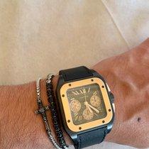 Cartier Titan Automatik Schwarz Römisch 46.5mm gebraucht Santos 100