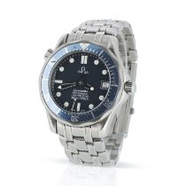 Omega Seamaster Diver 300 M pre-owned 36mm Blue Date Steel