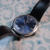 Omega Genève Steel 34mm Blue No numerals United Kingdom, Dronfield
