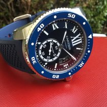 Cartier Calibre de Cartier Diver Acero 42mm Azul Romanos