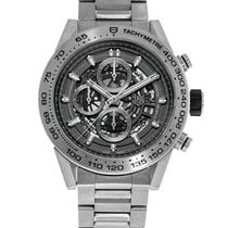 TAG Heuer Carrera Calibre HEUER 01 Titanium 45mm Transparent No numerals United States of America, New York, Greenvale