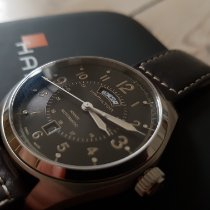 Hamilton Khaki Field Day Date Acier 42mm Noir Arabes France, La Rochelle