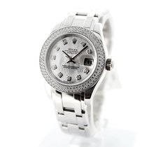 Rolex Pearlmaster White gold 29mm Mother of pearl No numerals