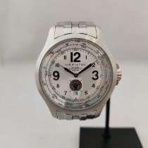 Hamilton Khaki Aviation occasion 44mm Blanc Date Acier