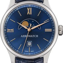 Aerowatch Renaissance Steel 40mm Blue No numerals