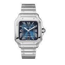 Cartier Santos (submodel) Steel Blue Roman numerals United States of America, Iowa, Des Moines