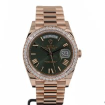 Rolex Day-Date 40 occasion 40mm Vert Or rose