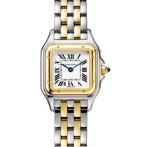 Cartier Panthère Gold/Steel 22mm Silver Roman numerals United States of America, Iowa, Des Moines