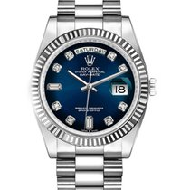Rolex Day-Date 36 White gold 36mm Blue No numerals United States of America, Florida, miami