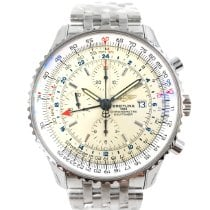 Breitling Navitimer World neu Automatik Chronograph Uhr mit Original-Box A2432212/G571
