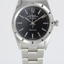 Rolex Air King Precision Steel 34mm Black No numerals