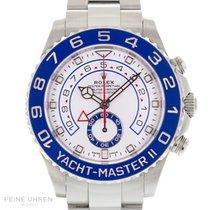 Rolex Yacht-Master II Stahl 44mm Weiß Keine Ziffern