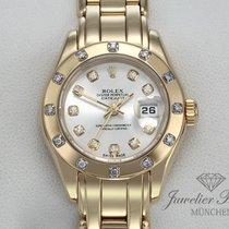 Rolex Lady-Datejust Pearlmaster Gelbgold 29mm Silber Keine Ziffern Deutschland, München