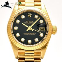 Rolex Lady-Datejust Oro amarillo 26mm Negro