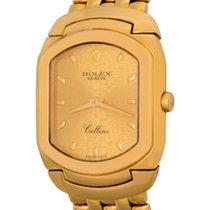 Rolex Cellini Желтое золото 24mm Цвета шампань Без цифр