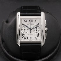 Cartier Tank MC Staal Wit
