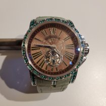 Roger Dubuis White gold Automatic Brown Roman numerals pre-owned Excalibur