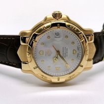 TAG Heuer 6000 Or jaune 38mm Blanc