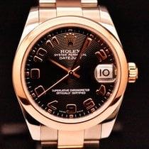 Rolex Lady-Datejust Aur/Otel 31mm Negru Roman