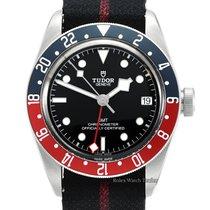 Tudor Black Bay GMT occasion 41mm Noir Date GMT Textile