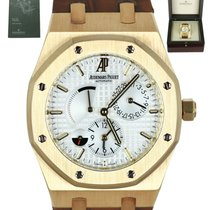 Audemars Piguet Yellow gold Automatic White 39mm pre-owned Royal Oak Dual Time