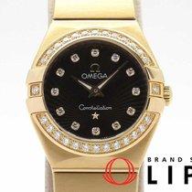 Omega Or rose Quartz Brun 25mm occasion Constellation Quartz