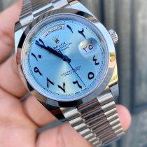 Rolex Day-Date 40 Platino 40mm Azul Romanos