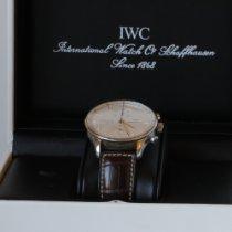 IWC Portuguese Chronograph occasion 41,0mm Nacre Chronographe Cuir