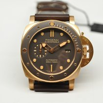 Panerai Luminor Submersible Bronz 47mm Kahverengi Rakamsız