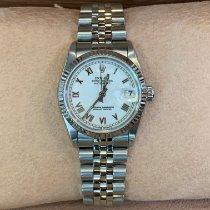 Rolex Lady-Datejust Gold/Stahl 31mm Weiß Keine Ziffern