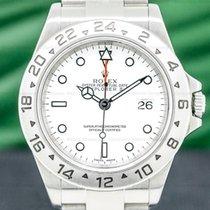 Rolex Explorer II Acier 40mm Blanc