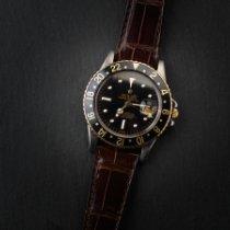 Rolex GMT-Master Ouro/Aço 40mm Preto Sem números