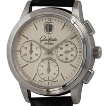 Glashütte Original Steel Automatic Silver 39mm pre-owned Senator Chronograph