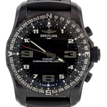 Breitling Cockpit B50 pre-owned 46mm Black Chronograph Date Rubber