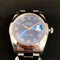 Rolex Datejust II Steel 41mm Blue Roman numerals