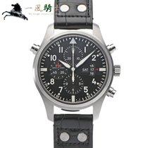 IWC Pilot Double Chronograph Acero 46mm Negro