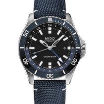 Mido Ocean Star Acier 44mm Bleu Sans chiffres