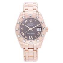 Rolex Remontage automatique Brun Romains 34mm occasion Lady-Datejust Pearlmaster