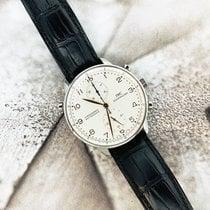 IWC Portuguese Chronograph occasion 41mm Blanc Chronographe Double chronographe Fonction flyback Cuir de crocodile