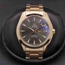 Omega Rose gold Grey 43mm pre-owned Seamaster Aqua Terra