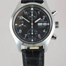 IWC Fliegeruhr Chronograph Stahl 39mm Schwarz Arabisch Schweiz, Crans-Montana
