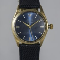 Rolex Yellow gold Automatic Blue No numerals 34mm pre-owned Air King Precision