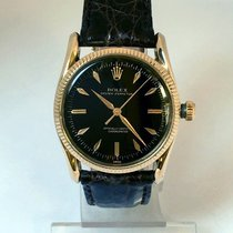 Rolex Oyster Perpetual Oro amarillo 34mm Negro