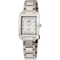 Seiko Solar Steel 24mm Mother of pearl Roman numerals United States of America, New Jersey, Somerset