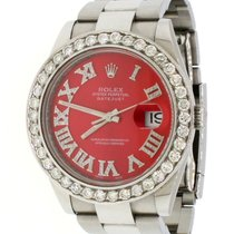 Rolex Datejust Acero 41mm Rojo
