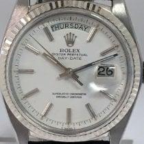 Rolex Day-Date 36 Белое золото 36mm Белый Без цифр